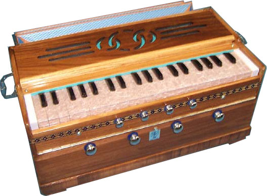 BRHM6S Harmonium Image via Mid-East. This image is copyright �2003 Batish Institute. Unauthorized copying or displaying on another site is strictly prohibited