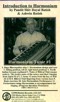 Harmonium Tutor 1 image. All content is copyright �1990 - 2003 Batish Records. www.batish.com. All rights reserved.