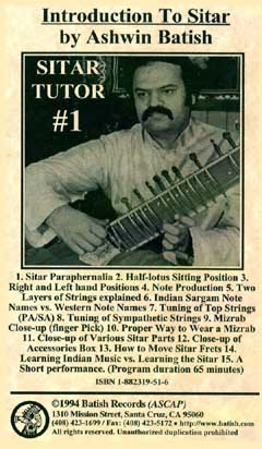 Sitar Tutor 1 image. All content is copyright �1990 - 2003 Batish Records. www.batish.com. All rights reserved.
