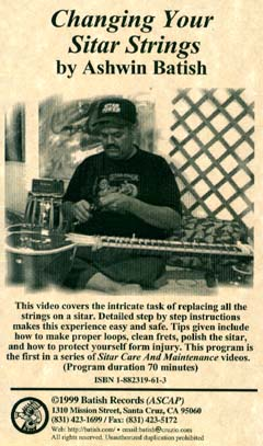 Sitar Repair Tutor - 'Changing Your Sitar Strings' image. All content is copyright �1990 - 2003 Batish Records. www.batish.com. All rights reserved.