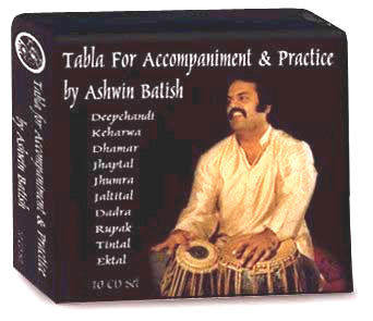 Ashwin Batish playing the tabla. Boxed Set of 10 Tabla CDs for accompaniment or practice